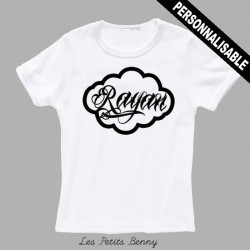 T-shirt enfant personnalisé avec caligraphie noir
