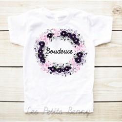 T-shirt enfant fille boudeuse