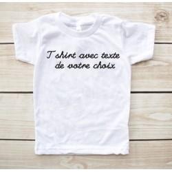 T-shirt enfant avec texte de votre choix