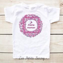 T-shirt enfant Je t'aime maman