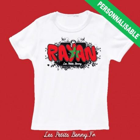 Préférence T shirt maroc personnalisable pour enfant avec prénom - Les Petits  PQ48