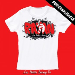 T shirt Tunisie personnalisable pour enfant avec prénom