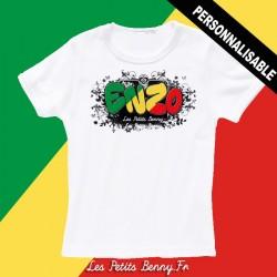 T shirt Congo brazzaville personnalisable pour enfant avec prénom