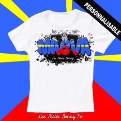 eeaf619b6e267 T shirt réunion personnalisable pour enfant avec prénom