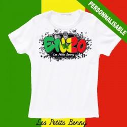 T shirt Senegal personnalisable pour enfant avec prénom