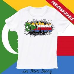 T shirt Comores personnalisable pour enfant avec prénom