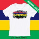 T shirt ile Maurice personnalisable pour enfant avec prénom