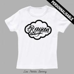 T-shirt enfant personnalisé avec calligraphie noir