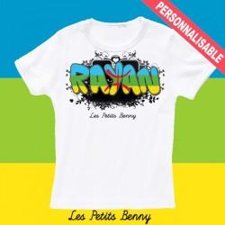 T shirt kabylie personnalisable pour enfant avec prénom
