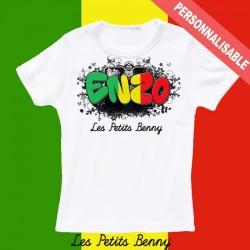T shirt mali personnalisable pour enfant avec prénom