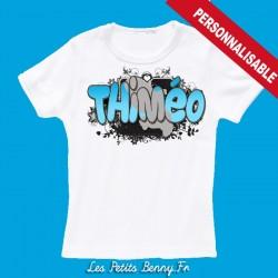 T shirt martinique madinina personnalisable pour enfant avec prénom