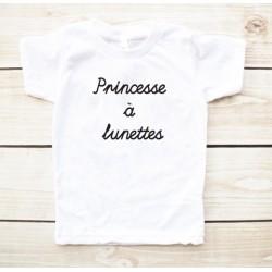 T-shirt enfant Princesse à lunettes