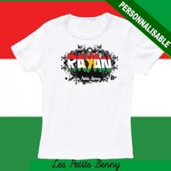 T shirt Kurde personnalisable pour enfant avec prénom