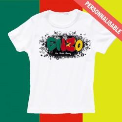 T shirt Cameroun personnalisable pour enfant avec prénom