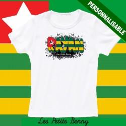T shirt Togo personnalisable pour enfant avec prénom