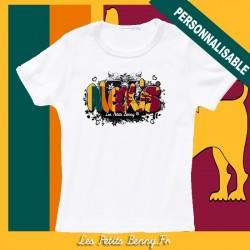 T shirt Sri lanka personnalisable pour enfant avec prénom