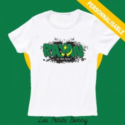 T shirt Mauritanie personnalisable pour enfant avec prénom