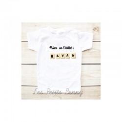 T-shirt enfant prince et prénom en quelques lettres
