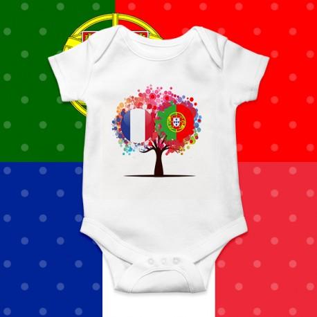 Body bébé FRANCE PORTUGAL arbre