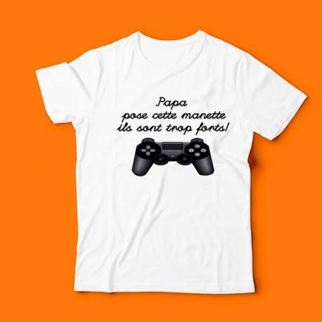 T-shirt pose la manette papa
