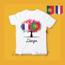 T shirt Portugal France Arbre