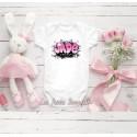 Body bébé fille personnalisé avec graffiti rose