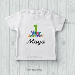 T-shirt bébé 1 an anniversaire