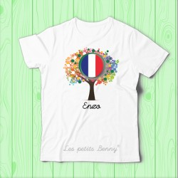 T shirt France + 2eme drapeau