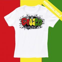 T shirt Guinée Conakry personnalisable pour enfant avec prénom