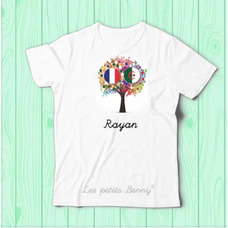 T shirt Algerie France