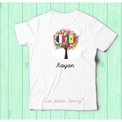 T shirt France Senegal