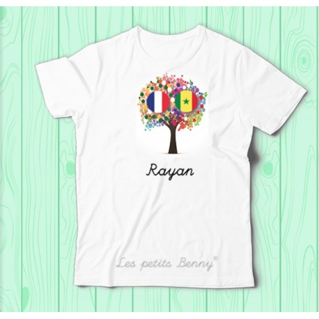 T shirt France Senegal