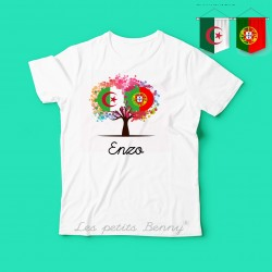 T shirt enfant Algerie Portugal