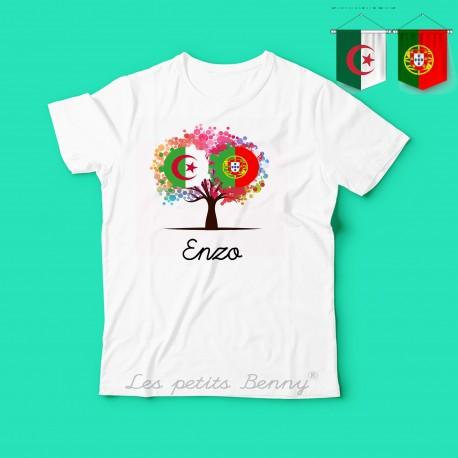 T shirt enfant Algerie Portugal