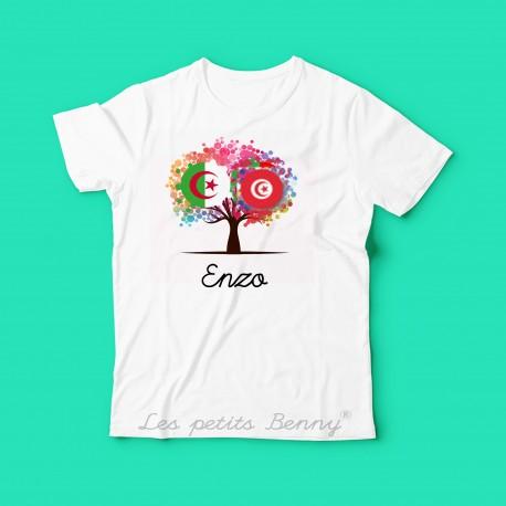 T shirt enfant Algerie Tunisie