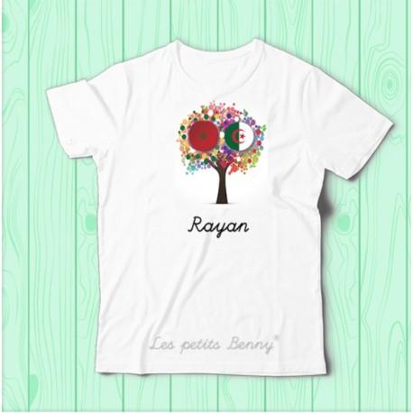 T shirt enfant Algerie Maroc