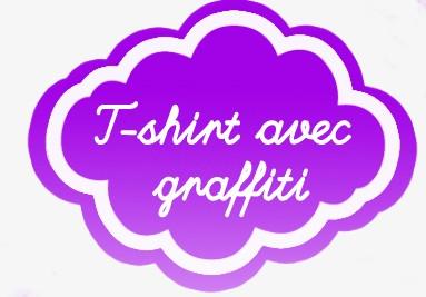 T-shirt enfant personnalisable avec prenom en Graffiti